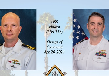 USS Hawaii Conducts Change of Command