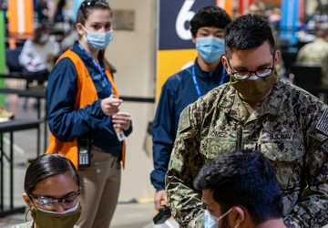 Sailors continue enduring vaccination support in Boston