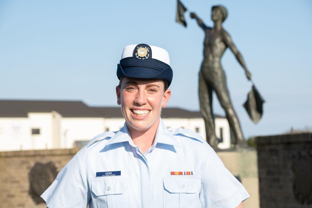Lauren Kerr earns Coast Guard Honor Graduate for boot camp company Juliet-200