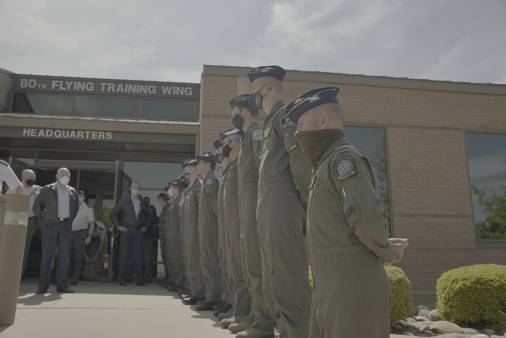 Belgian Chief of Defense Visits Sheppard