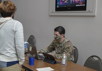 U.S. Army personnel conduct Wisconsin Center CVC operations