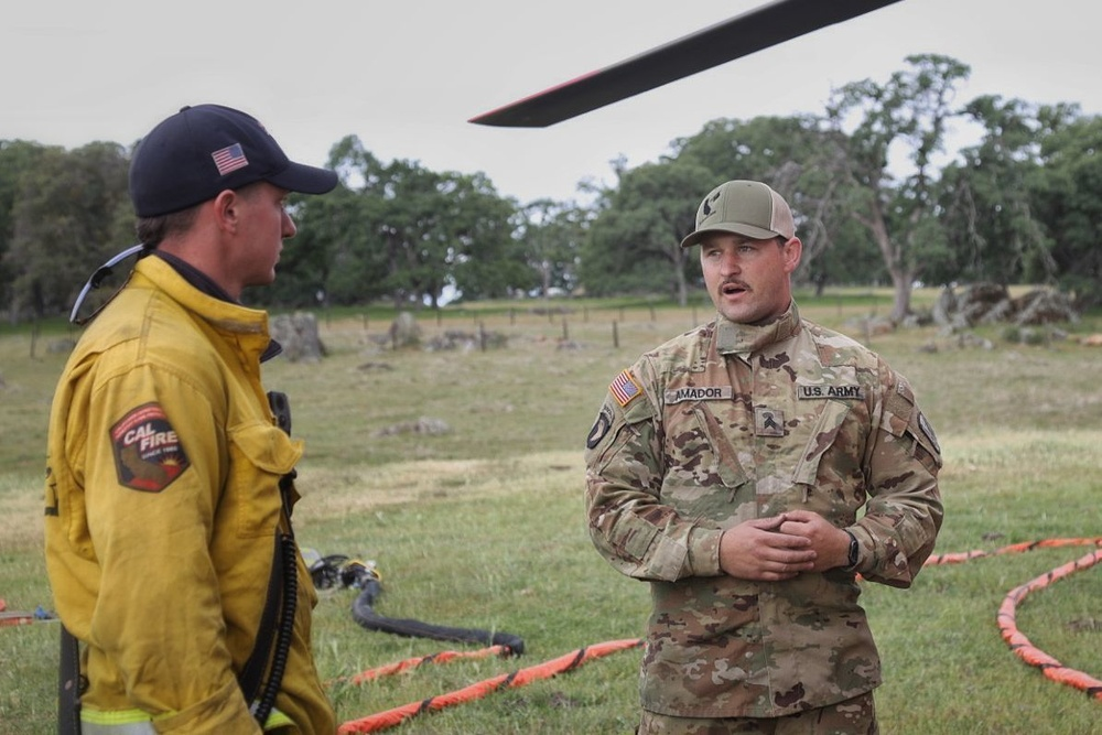 CAL FIRE and Cal Guard Heat Up Training