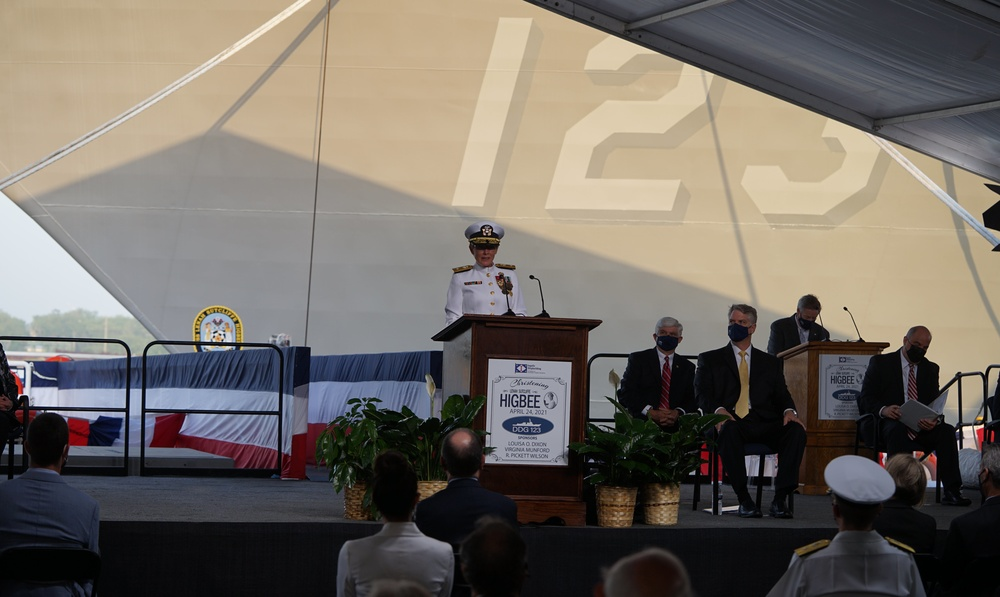 Ship Named after Navy Nurse Plankowner Lenah Higbee is Christened