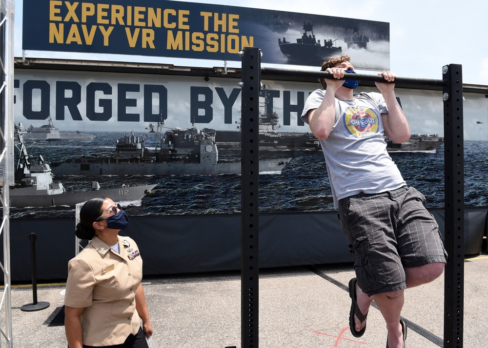 Navy's Virtual Reality Experience visits Flour Bluff High School during Buc Days