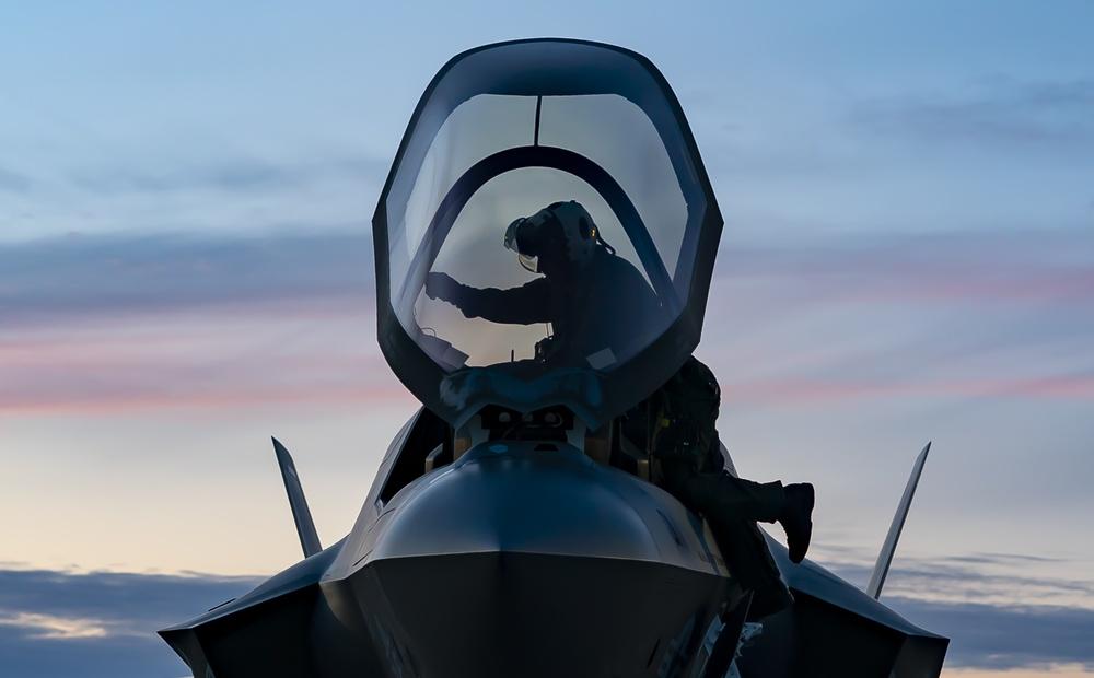 Marine Fighter Attack Squadron 211 arrive at RAF Lakenheath