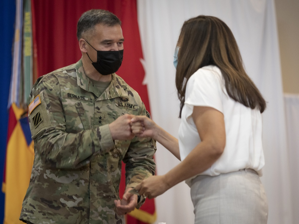 Team Bliss salutes volunteers during AVC ceremony