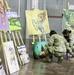Young Kosovo artists display artwork at Camp Bondsteel