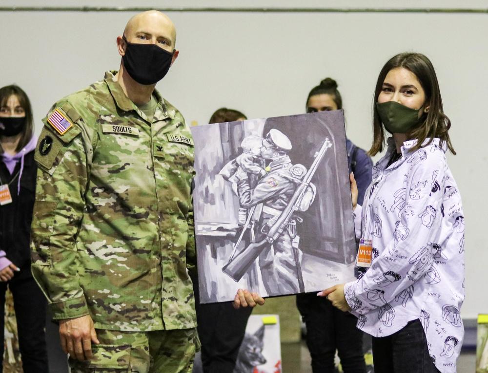 Young Kosovo artists display artwork at Camp Bondsteel By Staff Sgt. Tawny Schmit – Regional