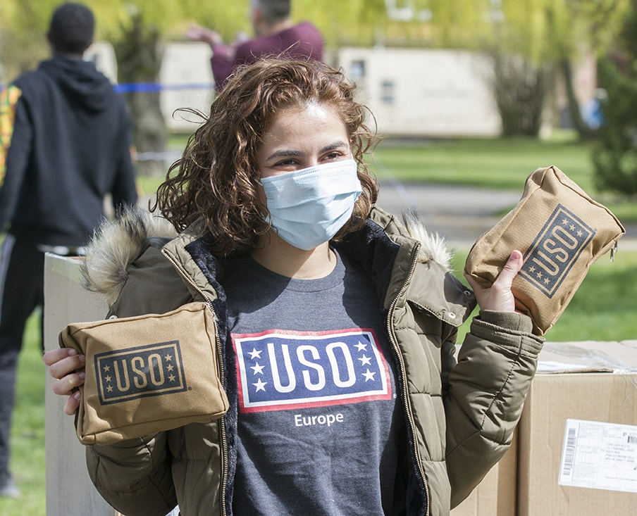 USO supports deployed Soldiers in Poland with care packages