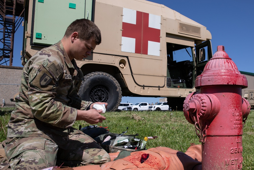 550th Medical Company Area Support conducts notional mass casualty emergency, Guardian Response 2021