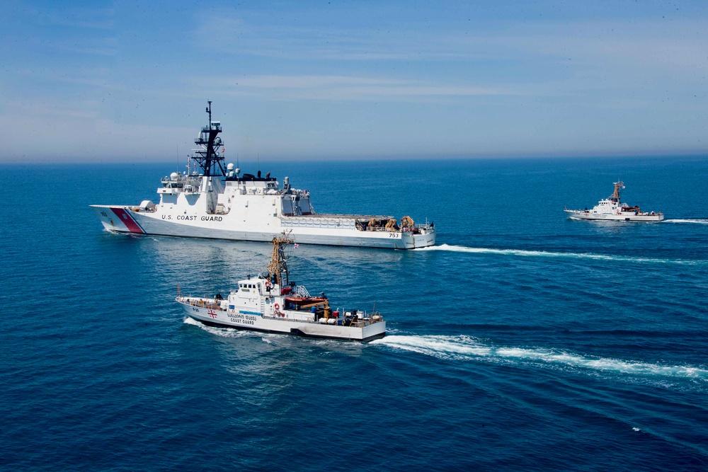U.S., Georgian coast guards conducts passing exercise