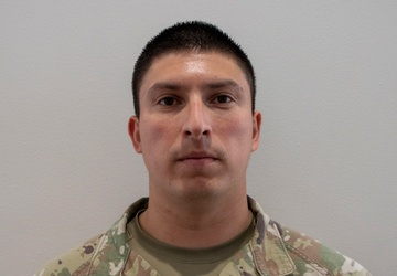 U.S. Army Staff Sgt. Michael Najera talks about his role at the Wisconsin Center Community Vaccination Center