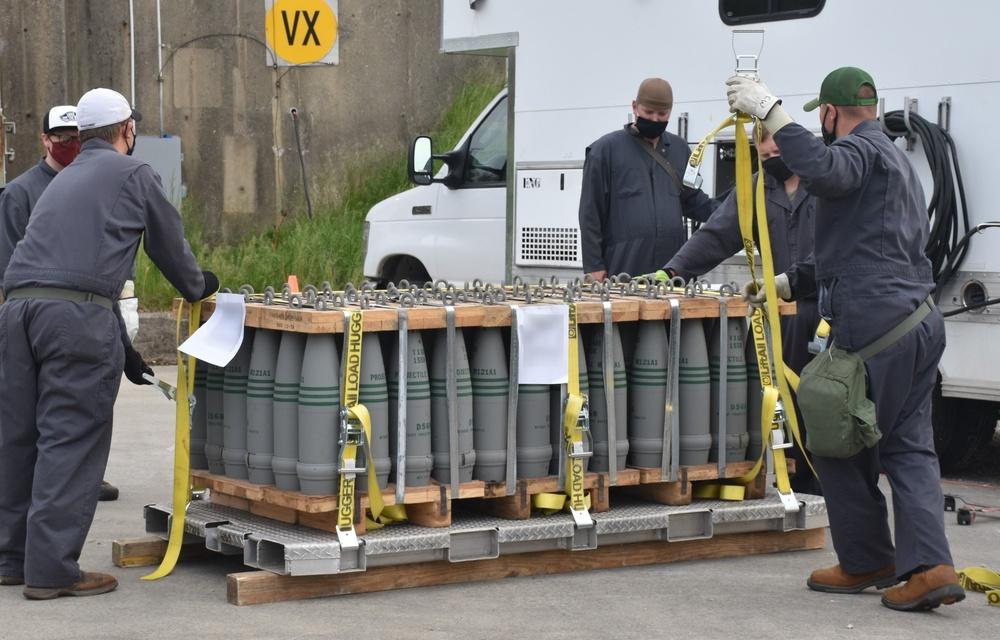 VX exit: Final projectiles transferred for destruction