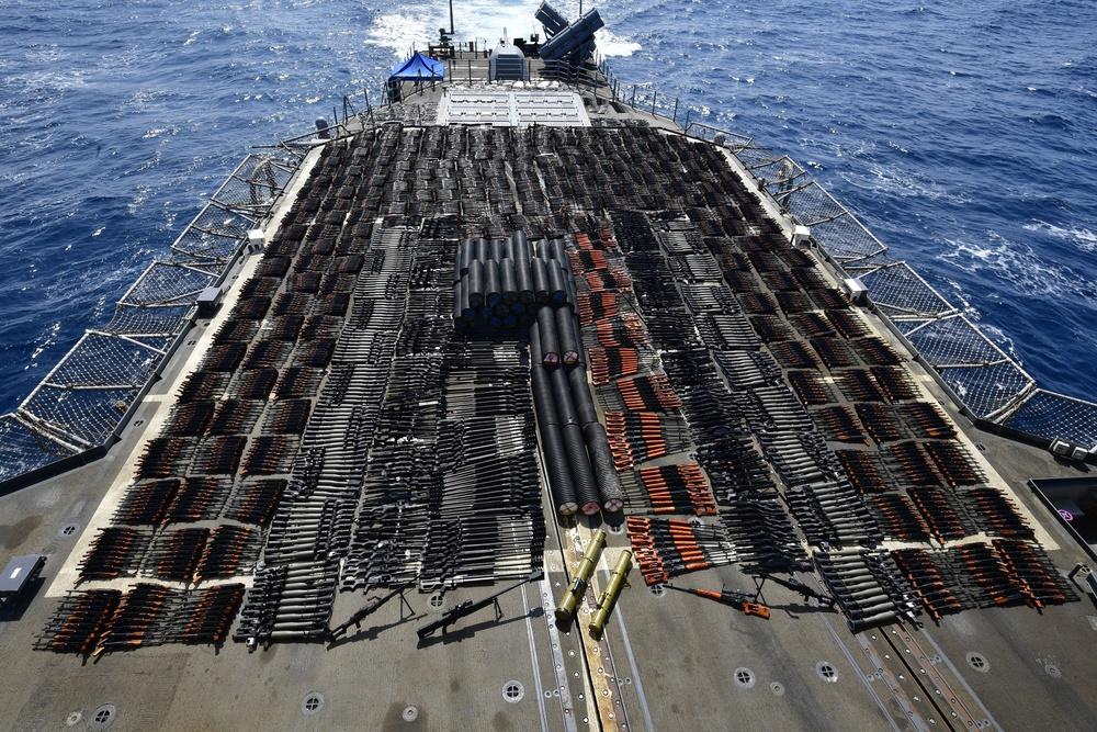 USS Monterey Illicit Weapons Interdiction