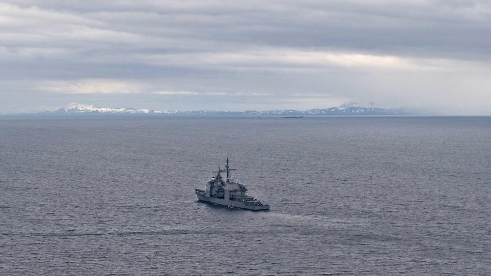 Cruising through Alaskan Gulf, Northern Edge 2021