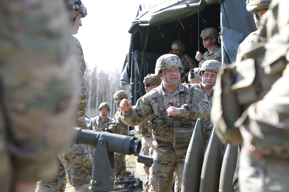 Soldiers receive instructions on best practices.