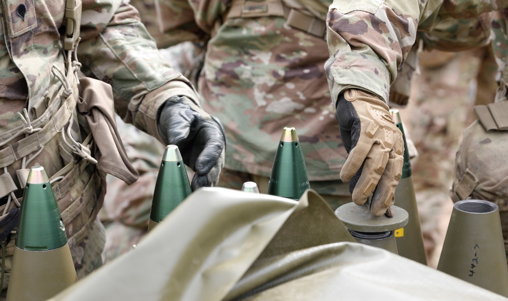 Soldiers get hands on.