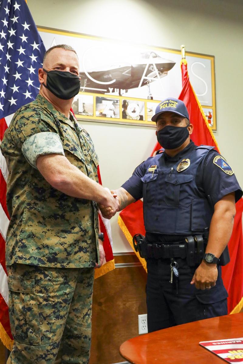 Military Police Officer Karl Bobbio Receives Civilian Lifesaving Award