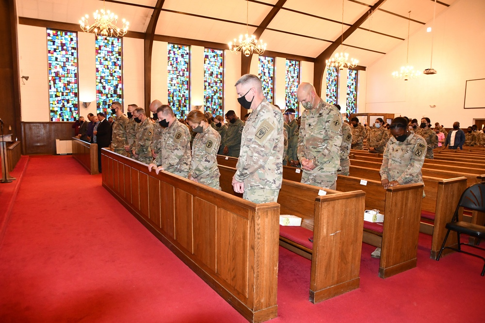 Members of Fort Polk community attend National Day of Prayer