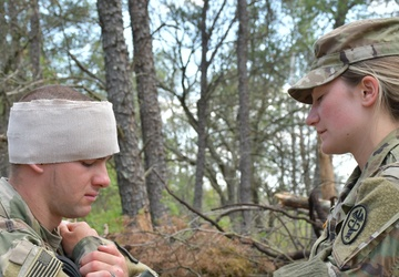Soldiers test for Expert Field Medical Badge Fort McCoy