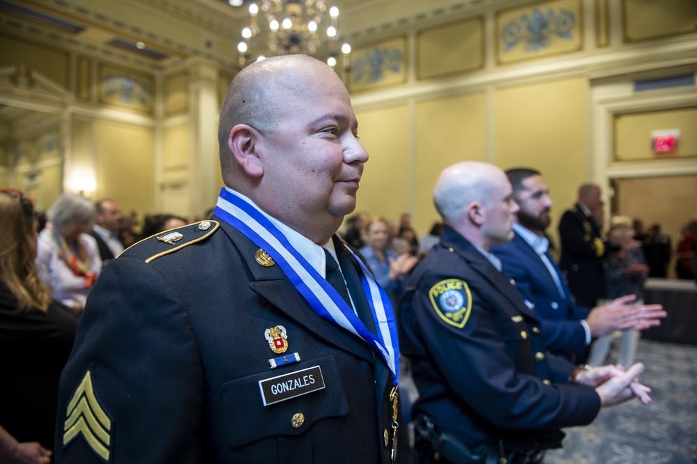 Oklahoma National Guardsman honored at inaugural Oklahoma Medal of Valor and Oklahoma Purple Heart award ceremony
