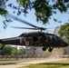UH-60L MEDEVAC helicopter lands outside D.C. Armory