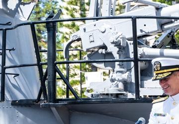 USS Topeka Conducts Change of Command