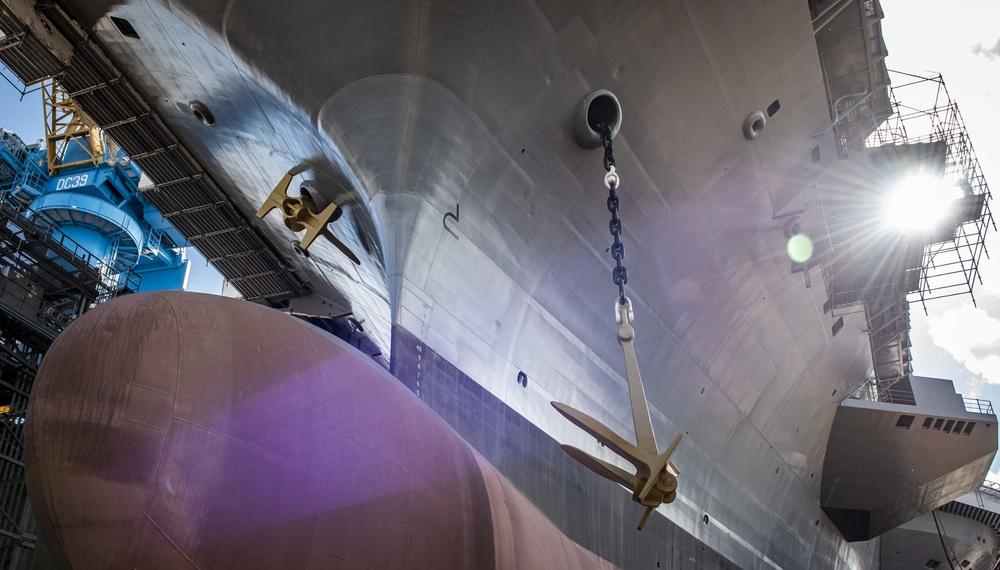 GHWB Onloads Port Side Anchor