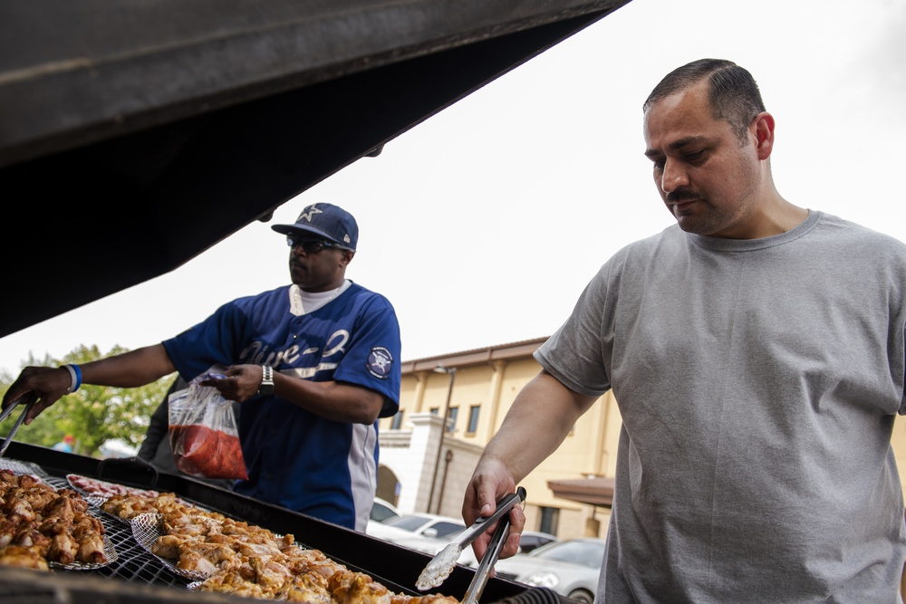 51st SFS heats up morale at police week cookout