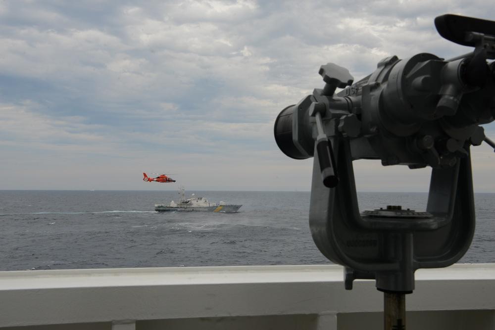 USCGC Hamilton conducts operations with Ukrainian Sea Guard