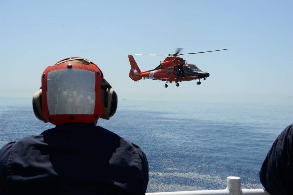 USCGC Hamilton works with Malta