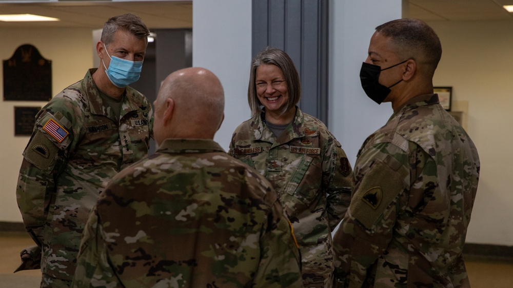 Chief, National Guard Bureau visits D.C. Armory, departing troops