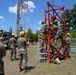 Radio communications tower erected at the 177th Fighter Wing of the New Jersey Air National Guard