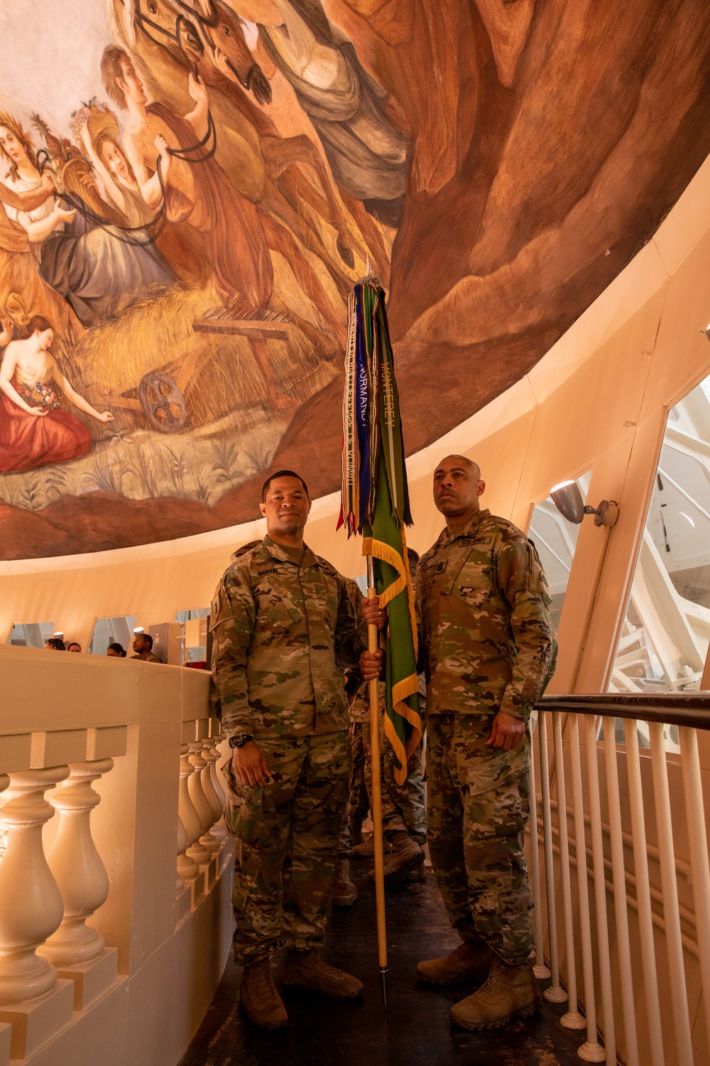 National Guard members pose for a photo in the U.S. Capitol on final day of security mission