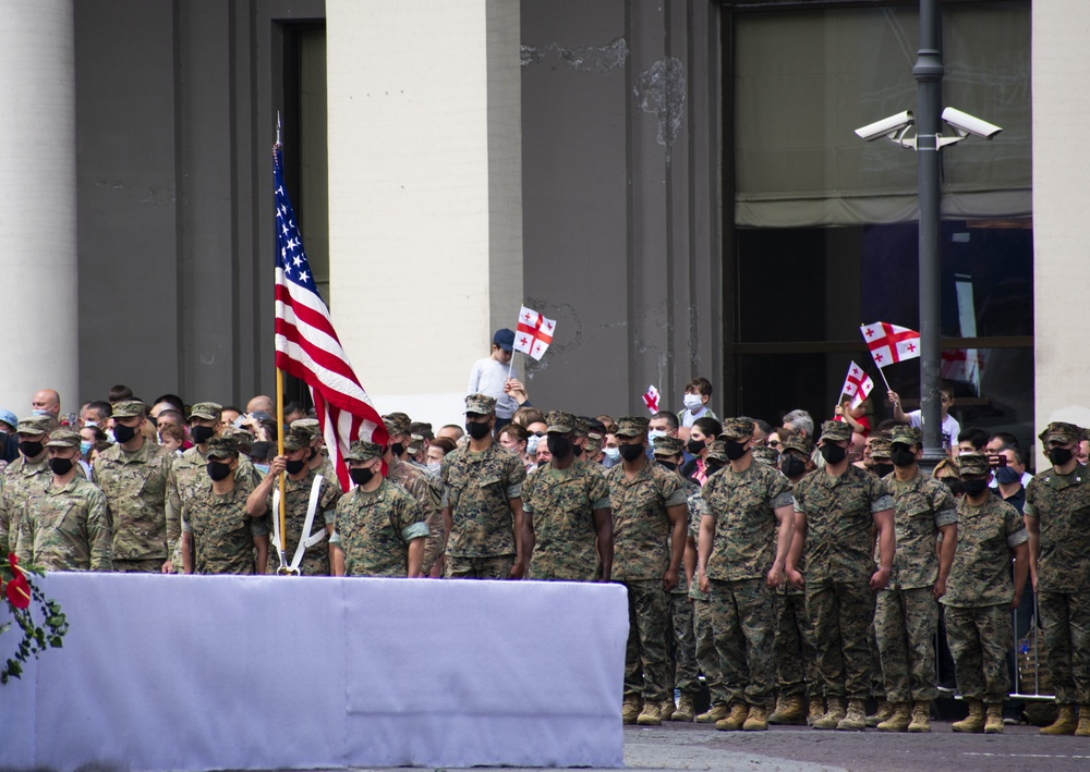 U.S. Marines, Army Join Georgian partners in Independence Day Ceremony
