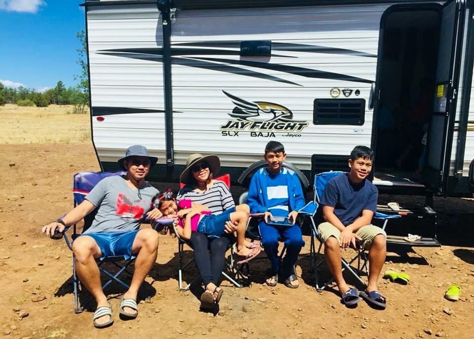 NC1 Tan and His Family Camping in Arizona Desert