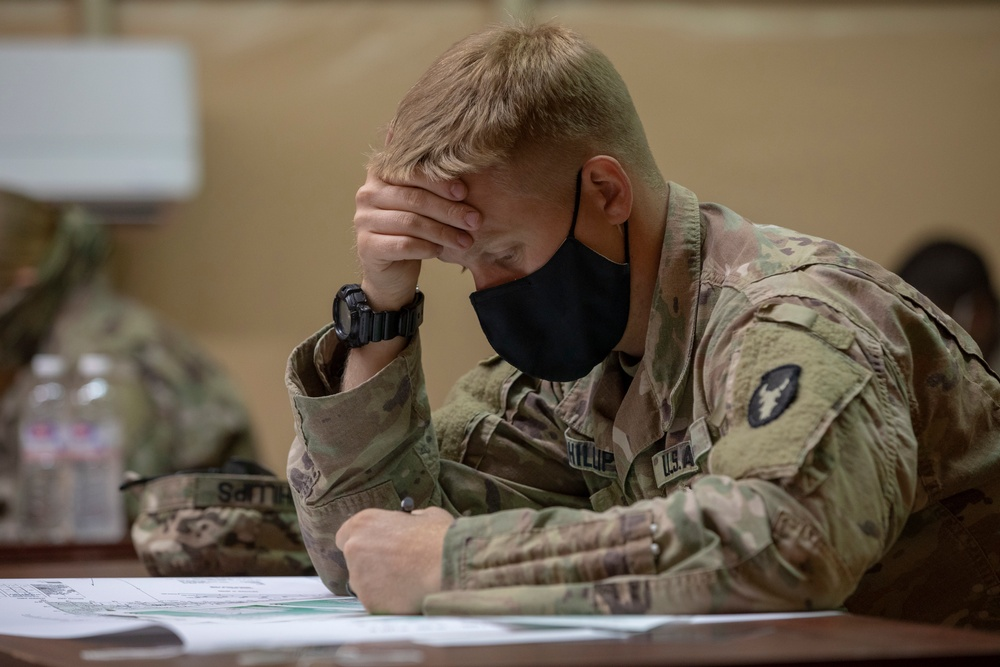 U.S. Army Central 2021 Best Warrior Competition Land Navigation Exam