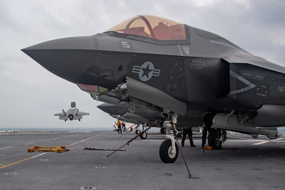 USS America conducts flight operations