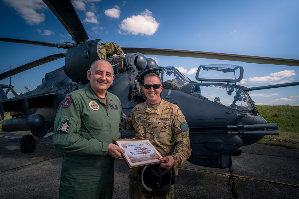 Building Interoperability: 12th CAB and Hungarian attack helicopter units cross-train aviators