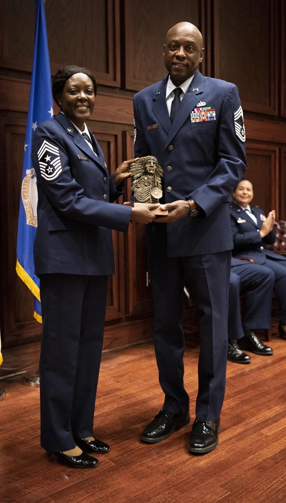 Chief Mathews celebrates Induction To Chief Master Sergeant