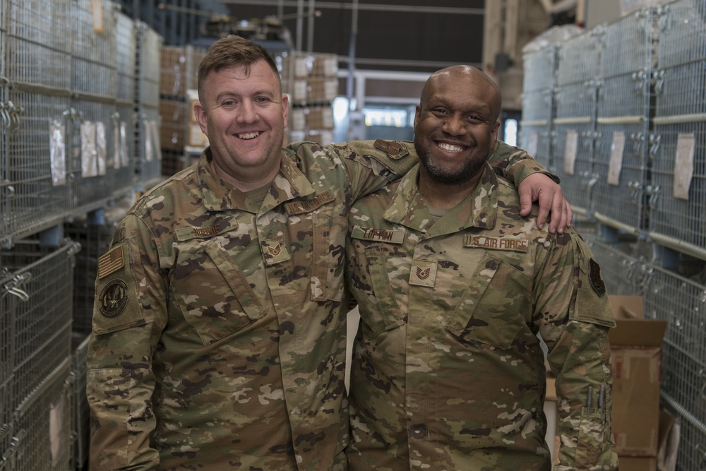Friends and coworkers from the 110th Wing