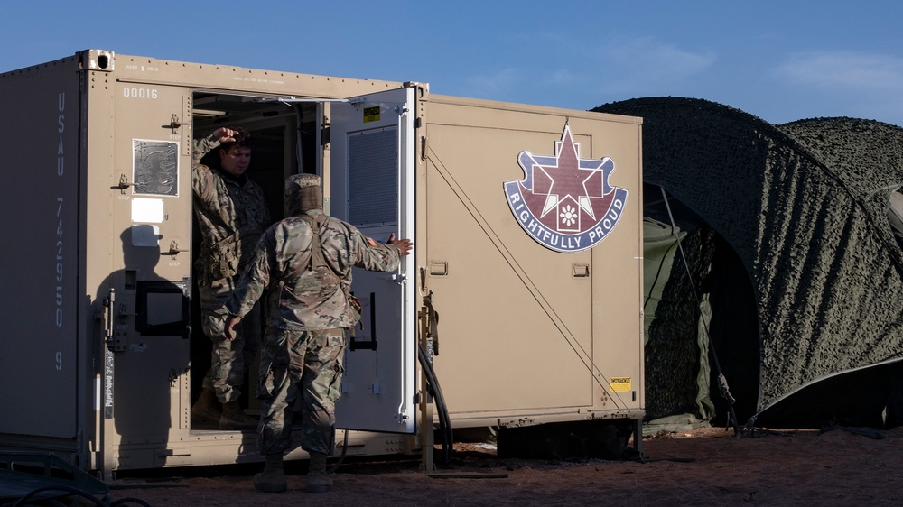 131st Field Hospital tests readiness on Fort Bliss Training Complex