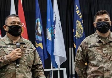 MG Estrada promotes son, SGT Estrada on COVID mission in Oregon