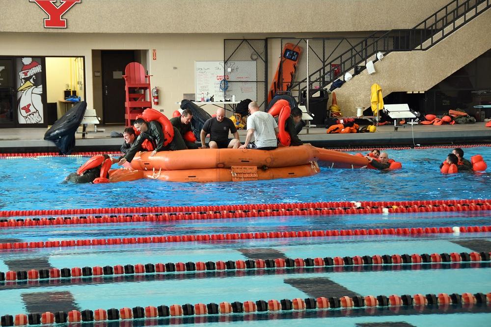 910 AFE conducts aircrew water survival training at YSU pool