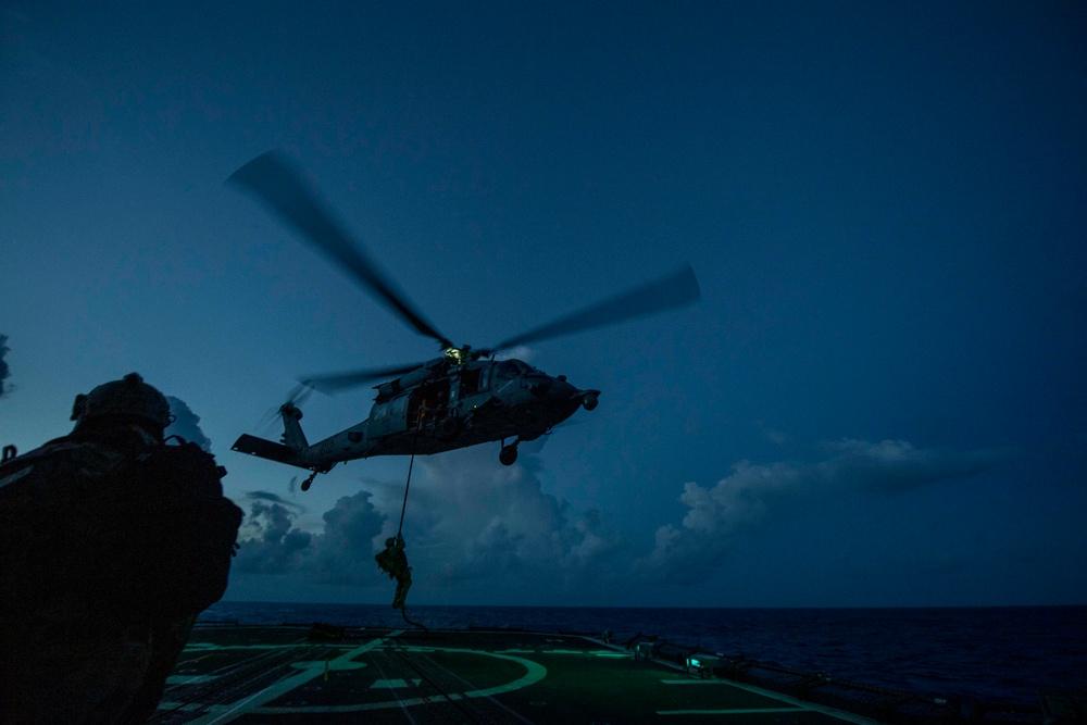 USS Shiloh CG 67 Underway June 6, 2021 Fast Rope