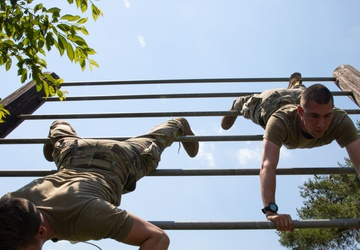 Black Lions Tackle Camp Fuji Obstacle Course