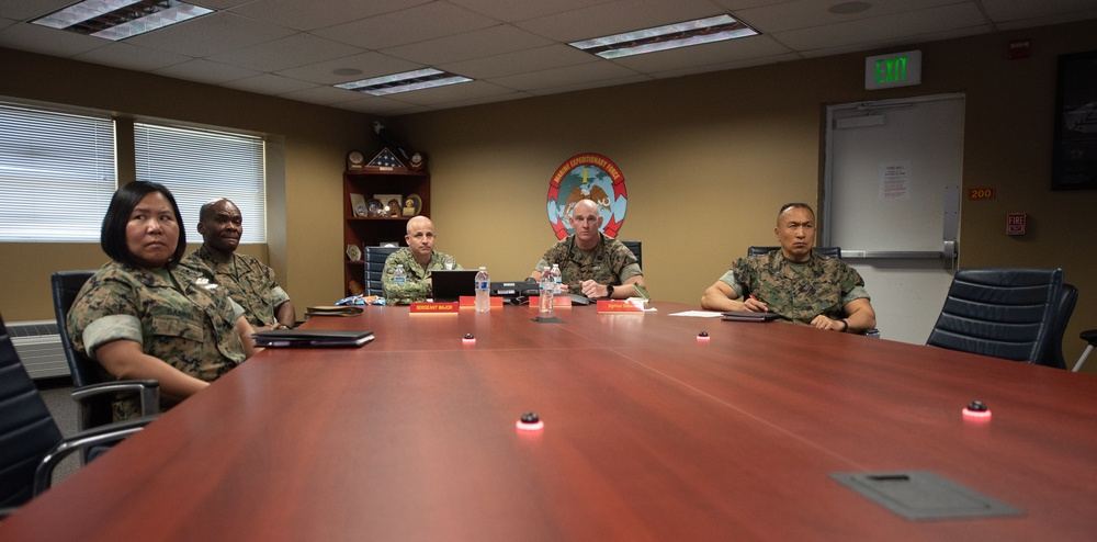 MCPON Smith and SMMC Black Participate in West Coast Marine Corps Senior Enlisted