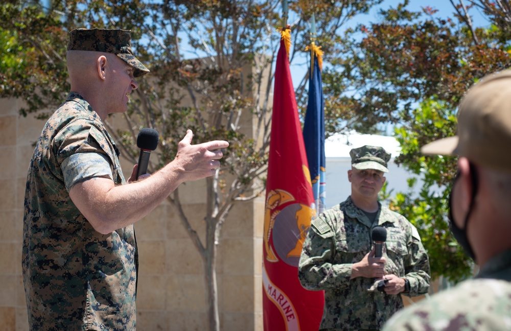 MCPON Smith and SMMC Black Joint Fleet Engagement