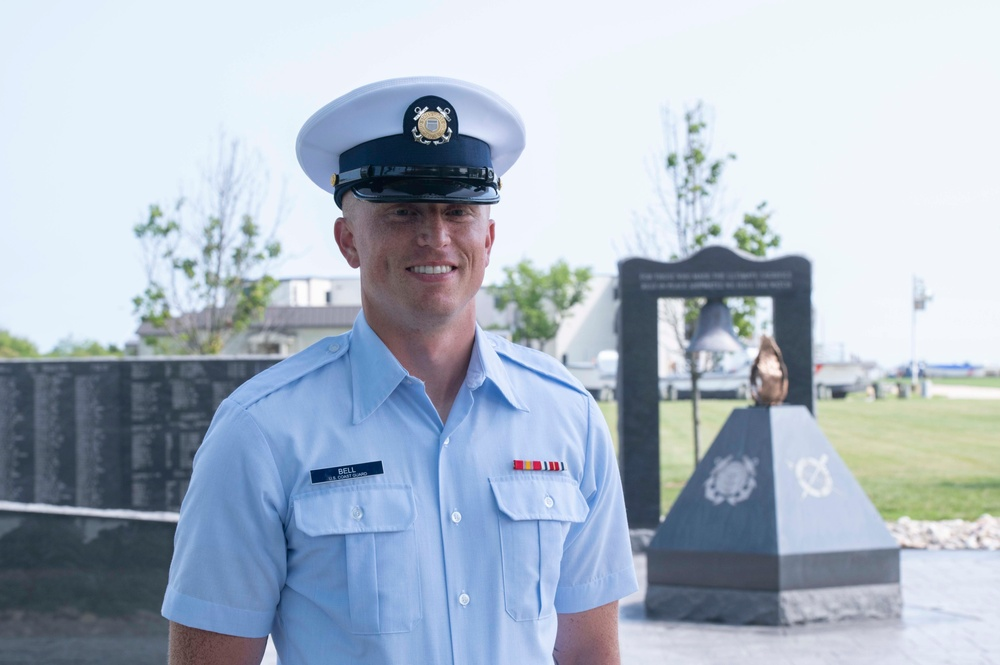 Seaman Taylor Bell earns Coast Guard Honor Graduate for boot camp company Papa-200
