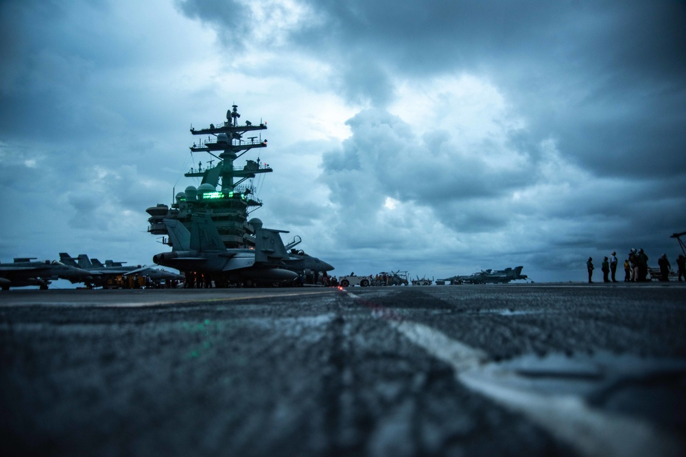 USS Ronald Reagan Conducts Flight Operations in the South China Sea